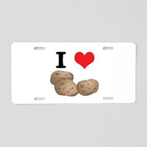 I Heart (Love) Potatoes Aluminum License Plate