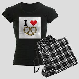I Heart (Love) Pretzels Women's Dark Pajamas