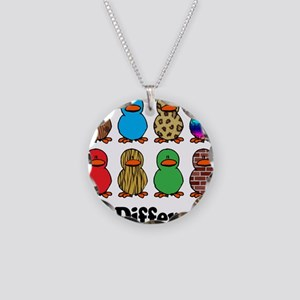 Be Different Ducks Necklace Circle Charm