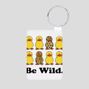 Be Wild Ducks Aluminum Photo Keychain