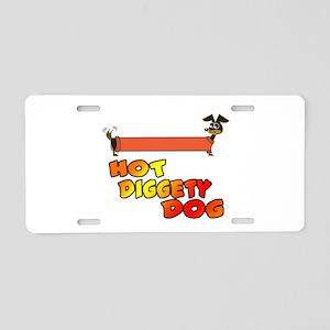 Hot Diggety Dog Daschund Aluminum License Plate