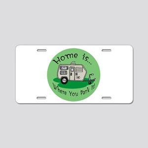 Trailer Park Home Aluminum License Plate