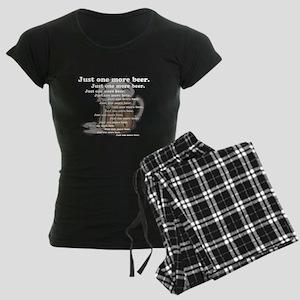 Just One More Beer Women's Dark Pajamas