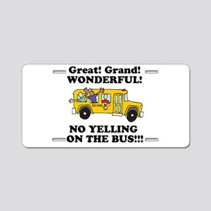 NO YELLING ON THE BUS Aluminum License Plate