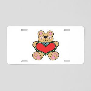 Valentine's Country Teddy Bea Aluminum License Pla