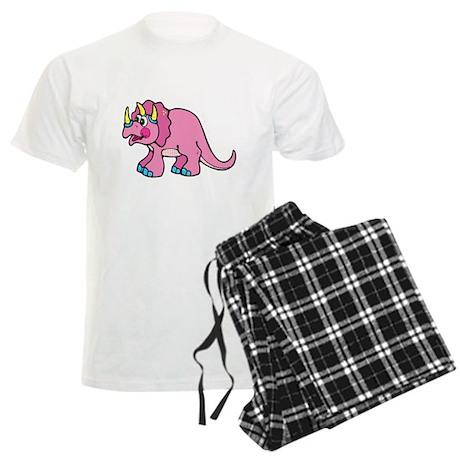 Cute Pink Triceratops Dino Men's Light Pajamas