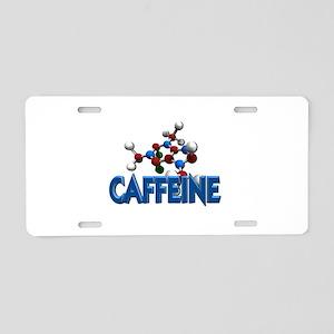 Caffeine Molecule Aluminum License Plate