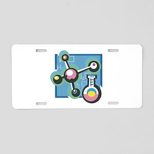 Chemistry Design Aluminum License Plate