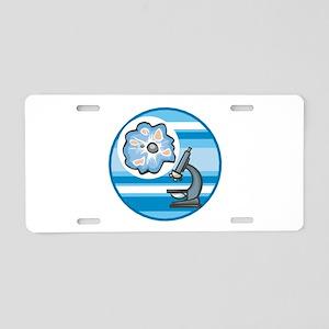 Cool Microscope Circle Design Aluminum License Pla