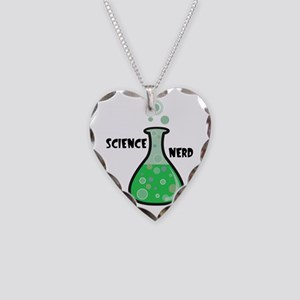 Science Nerd Necklace Heart Charm