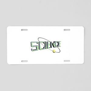 Science Orbit Design Aluminum License Plate