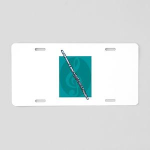 Flute Design Aluminum License Plate