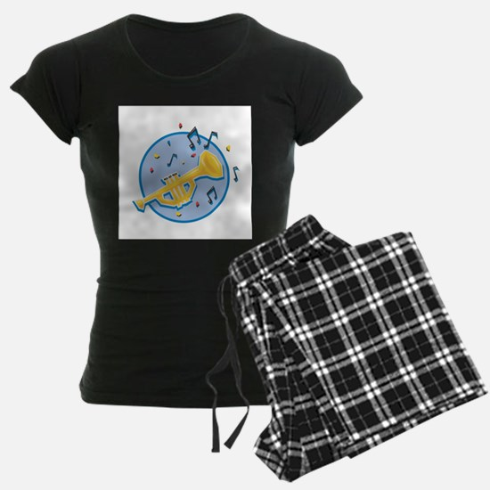 Trumpet and Music Notes Desig Pajamas