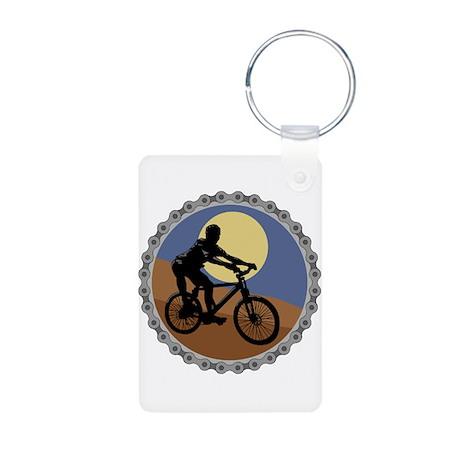 Mountain Bike Chain Design Aluminum Photo Keychain