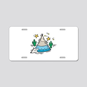 TeePee Aluminum License Plate
