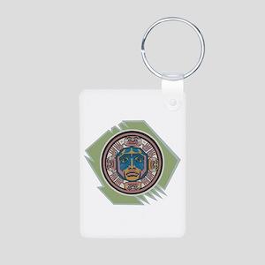 Indian Spirit Emblem Aluminum Photo Keychain