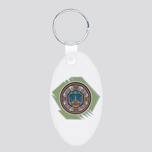Indian Spirit Emblem Aluminum Oval Keychain