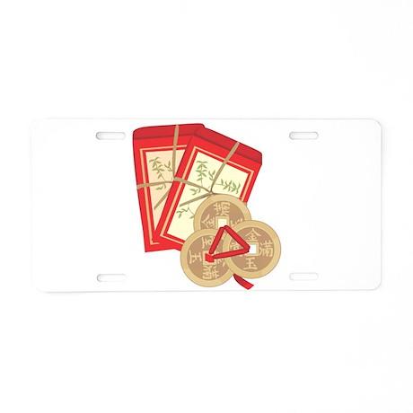 Feng Shui Good Fortune Coins Aluminum License Plat