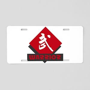 Kanji Warrior Design Aluminum License Plate
