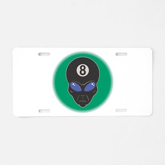 Eight Ball Alien Aluminum License Plate