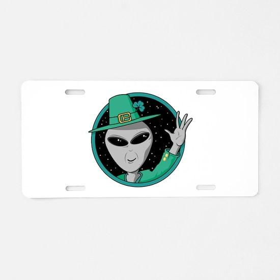 Irish Alien Aluminum License Plate