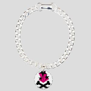 Stars and Crossbones Poison D Charm Bracelet, One
