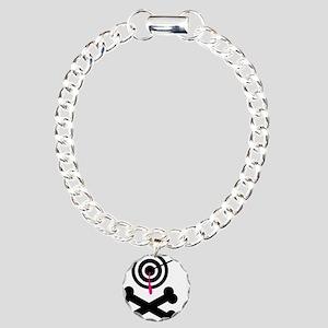 Poison Bullseye Crossbones De Charm Bracelet, One