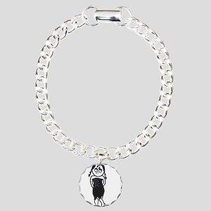 Sexy Goth Emo Girl Illustrati Charm Bracelet, One
