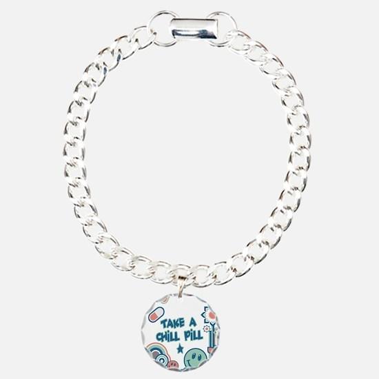 Chill Pill Retro Collage Desi Charm Bracelet, One