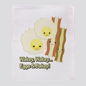 Wakey Wakey Eggs N Bakey Throw Blanket