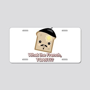What the French Toast Kawaii Aluminum License Plat
