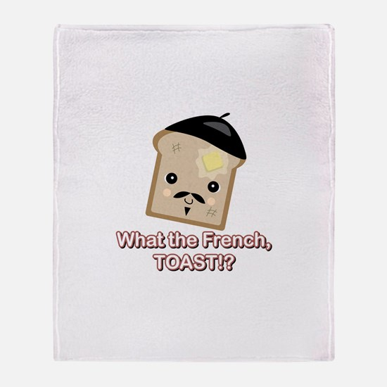 What the French Toast Kawaii Throw Blanket