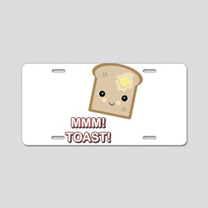 MMM! Toast Aluminum License Plate