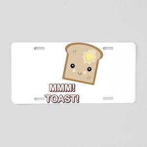 MMM! Toast Aluminum License Plate