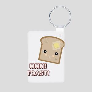 MMM! Toast Aluminum Photo Keychain