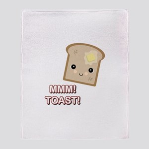 MMM! Toast Throw Blanket