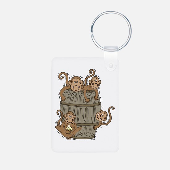 Cute Barrel of Monkeys Keychains