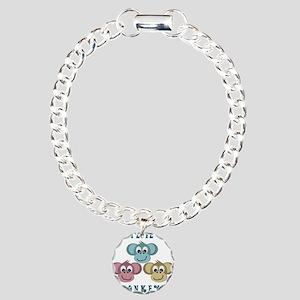I love Monkeys Retro Style Charm Bracelet, One Cha