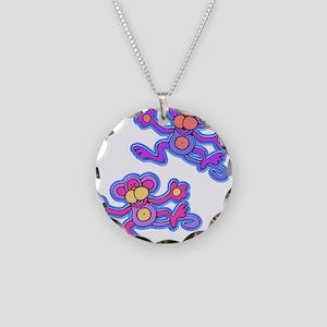 Monkeys Necklace Circle Charm