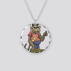 Cool Dude Monkey Necklace Circle Charm