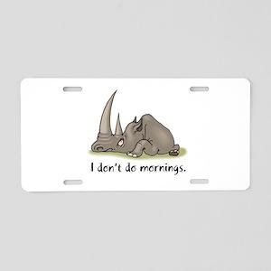 Lazy Rhino Aluminum License Plate