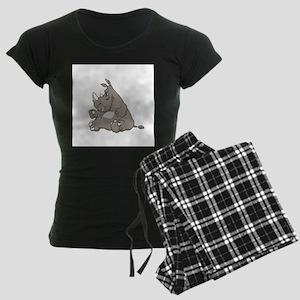 Rhino with an Attitude Women's Dark Pajamas