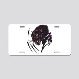 Black Panther Tribal Design Aluminum License Plate