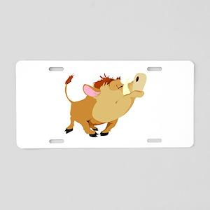 Funny Stubborn Wild Boar Aluminum License Plate