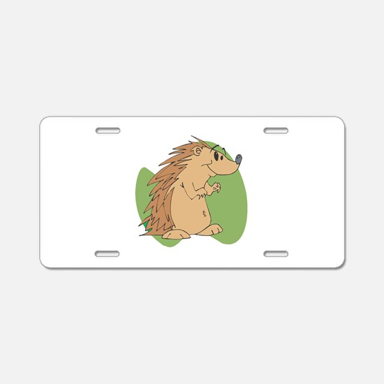 Cute Porcupine Aluminum License Plate