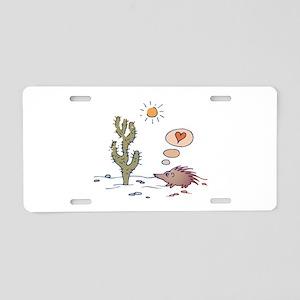 Porcupine & Cactus Love Carto Aluminum License