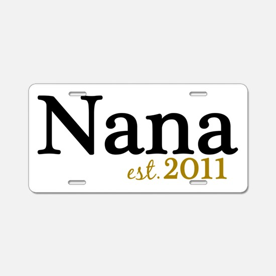 New Nana Est 2011 Aluminum License Plate