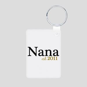 New Nana Est 2011 Aluminum Photo Keychain