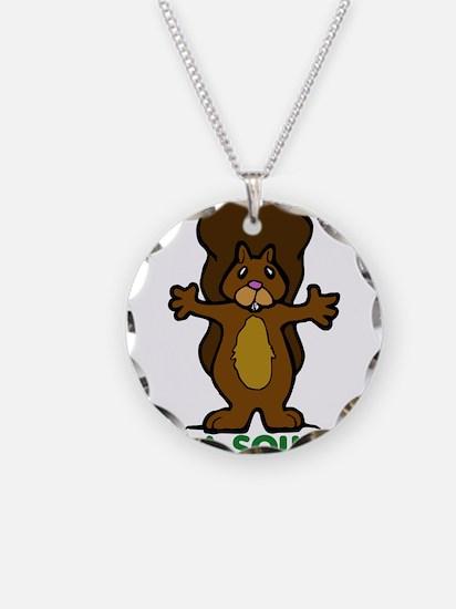 Hug a Squirrel Necklace