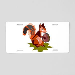 Colorful Squirrel Aluminum License Plate